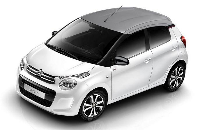 Rent a car in Naxos Citroen C1 Cabrio