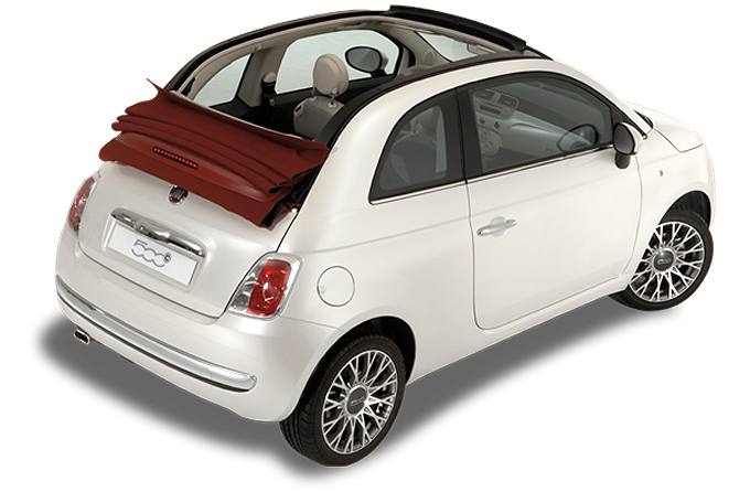 Rent a car in Naxos Fiat 500 Cabriolet
